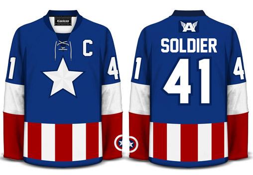 Captain America Hockey Jersey