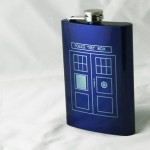 Engraved Doctor Who Flask
