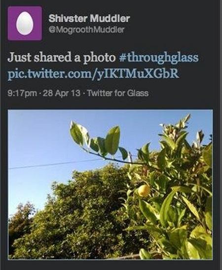 Google Glass Twitter image
