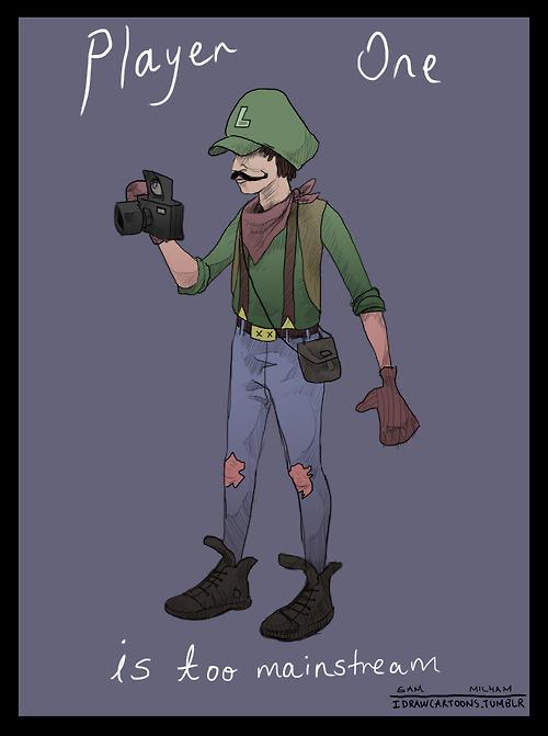Hipster Luigi