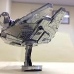 Laser-Cut Star Wars R2-D2 and Millennium Falcon Metallic Nano Puzzle