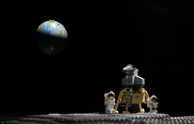 Lego moon landing