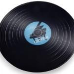 Retro Record Glass Platter