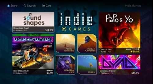 Sony indie games section image 2