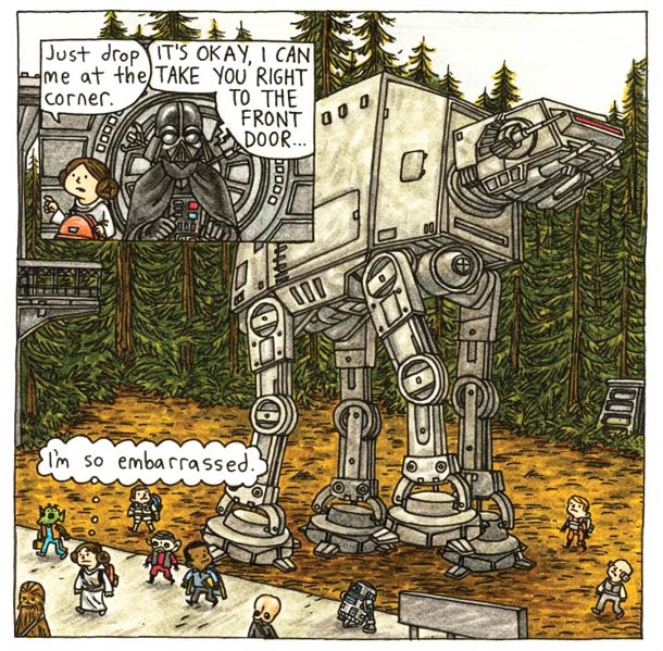 Taking the At-At to school