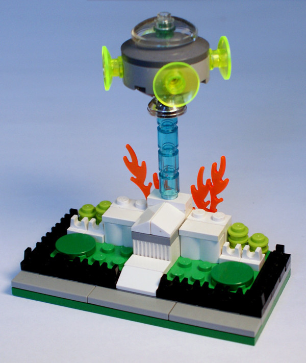 UFO Destroying the White House