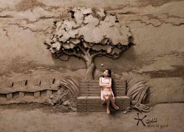 A Landscape made of sand