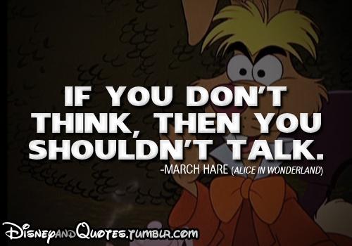 Alice in Wonderland quote