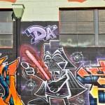 Cartoonish Darth Vader Graffiti