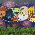 Cartoonish Star Wars Graffiti