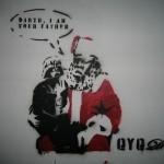 Christmas Vader Graffiti