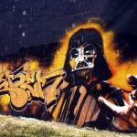 Darth Vader Blinged Out Graffiti