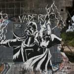 Darth Vader Breaking Reality Graffiti