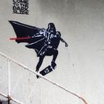 Darth Vader Skateboarding Graffiti