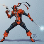 Deathstroke the Teminator With a Mouth