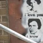"""Han Solo & Leia – """"I love you"""", """"I know"""" graffiti"""