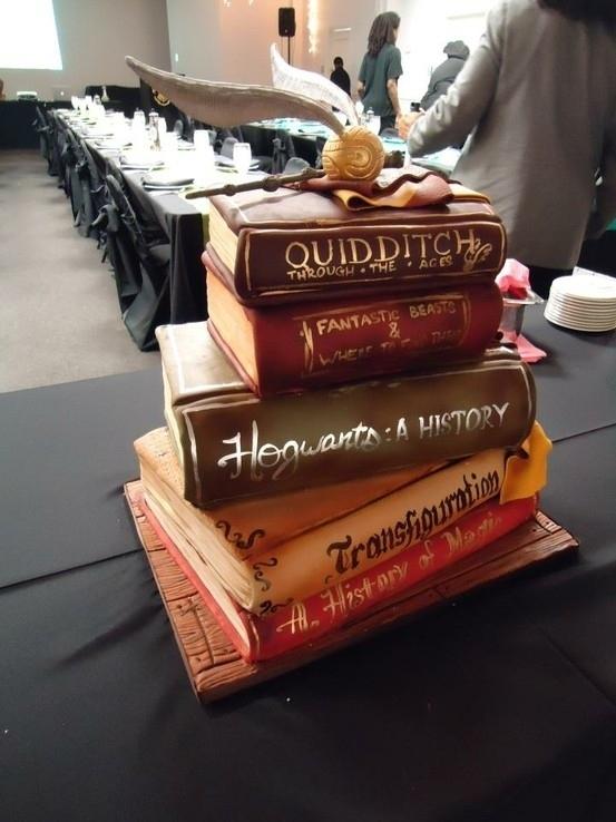 Harry Poter Books Cake