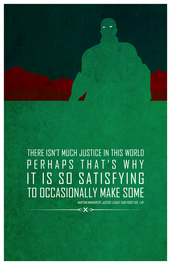 Martian Manhunter words of wisdom