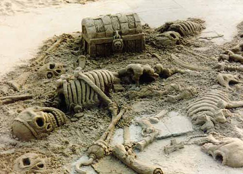 Pirates Buried With Their Treasures