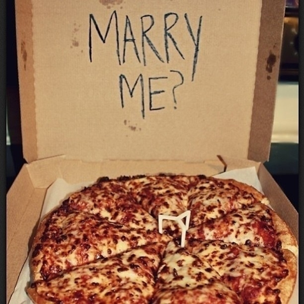 Pizza Box Marriage Proposal