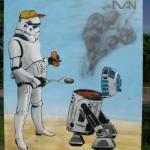 R2-D2 BBQ Graffiti