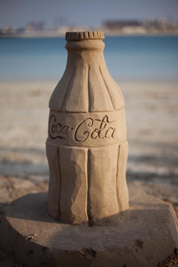 Sand Coca Cola bottle