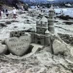 Sand Sculpture Marriage Proposal