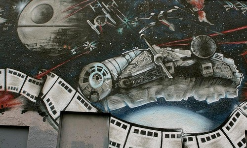 Star Wars Spaceship Battle Graffiti