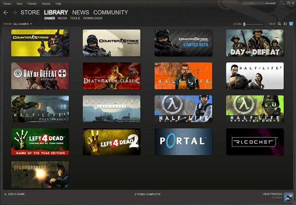Steam game library image