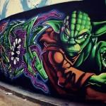 Yoda Graffiti By Bertrand