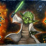 Yoda Graffiti PPCC Antifa