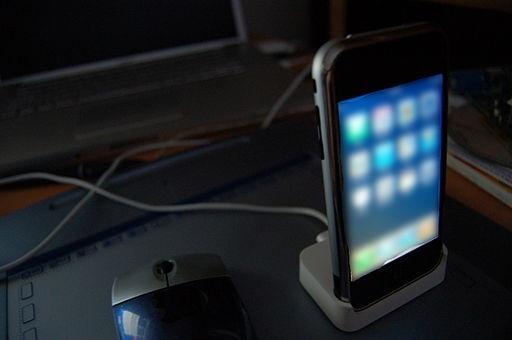 iphone docked