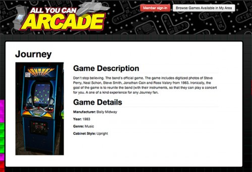 All you can arcade journey page image