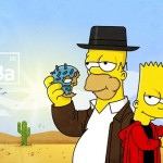 Bart and Homer Simpson as Breaking Bad Characters