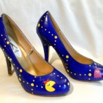 Custom Hand Painted Ms. Pac-Man High Heels image 1