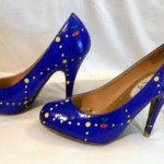 Custom Hand Painted Ms. Pac-Man High Heels image 2