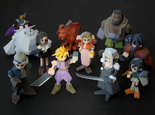 Final Fantasy 7 3D printer polygon figures by Joaquin Baldwin image 1