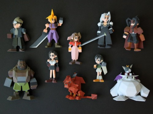 Final Fantasy 7 3D printer polygon figures by Joaquin Baldwin image 2
