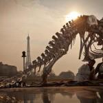Life-Size Tyrannosaurus Rex Sculpture Paris Seine River Bank 4