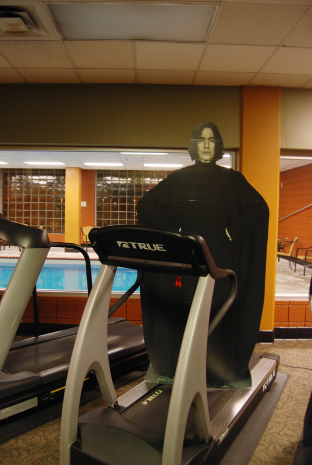 Severus Snape Working Out