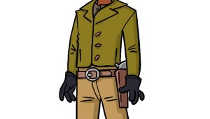 Django as a Simpsons Character