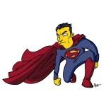 Simpsonified Man of Steel