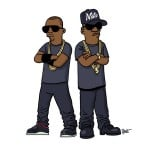 Jay-Z and Kanye West Keep It Cool, The Simpsons Way