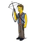 Simpsonified Walking Dead Characters