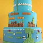 Super Mario Bros Levels Cake 1