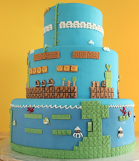 Super Mario Bros Levels Cake 1