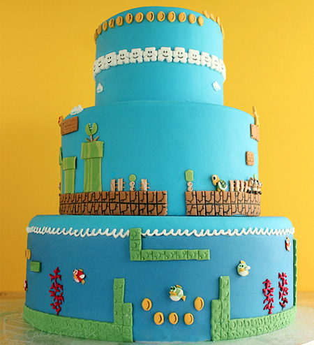 Super Mario Bros Levels Cake 2