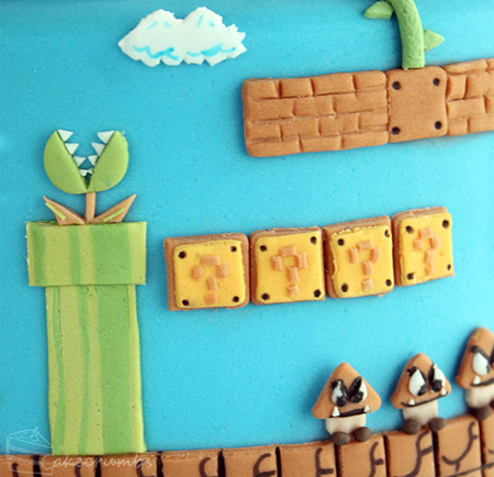 Super Mario Bros Levels Cake 3