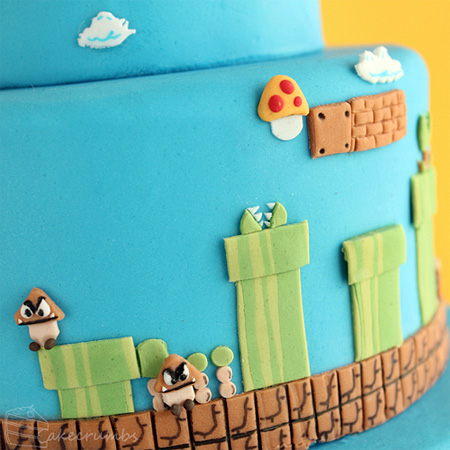 Super Mario Bros Levels Cake 5