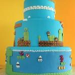 Super Mario Bros Levels Cake 6